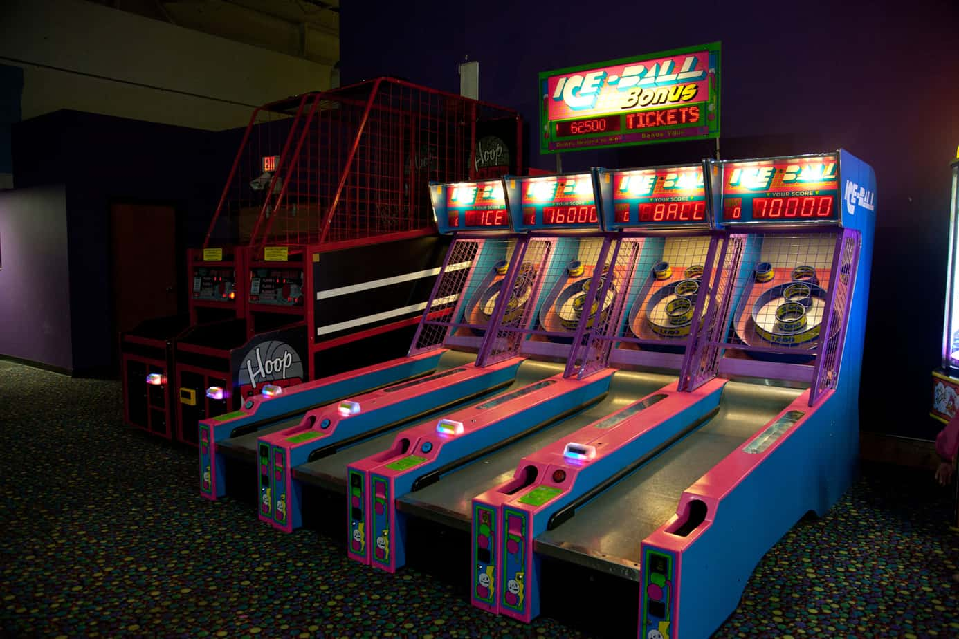 Arcade games at Metro Fun Center