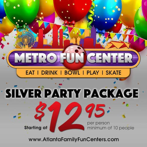 Silver Party Package at Metro Fun Center